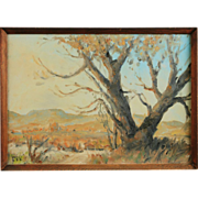 "Walt Lee Original Oil Painting ""A Tree To Remember"" California Artist 1888-1980"