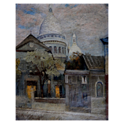 Peter Holm. Churches at Montmartre. Paris, dated 1921