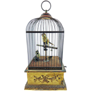 Extra Large Antique Singing Birdcage Automaton Music Box French Bontems