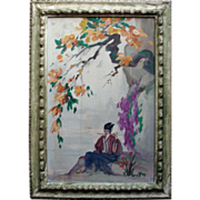 Emilio Lanzi  (1884 - 1965) Oil on Canvas Listed CA artist