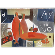 Edith Joachim, Listed California, Mid-Century Modernist, Exhibited Abstract