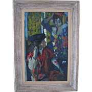 Original Oil by well listed Luigi Corbellini