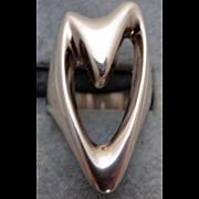 George Jensen Silver Ring # 89 - Henning Koppel Sterling Heart Ring