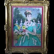 Suzanne Eisendieck  (1908 - 1998) Org. Pastel Circa 1970s.