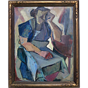 Rose Kuper (1888-1987)  Modern Cubist Dated 1940