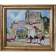 Orrin White  (1883 - 1969) The Cathedral Gate, Cuernavaca, Mexico