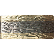 Vintage Gold and Sterling Silver Money Clip