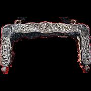 Heavy-Antique-Dutch-Silver-Purse-Frame     Heav