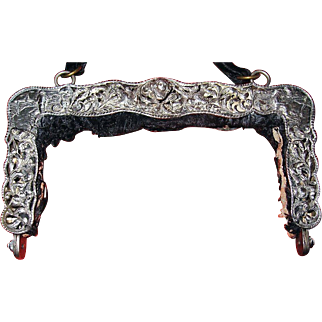 Heavy-Antique-Dutch-Silver-Purse-Frame     Heav