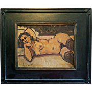 A. Smith Women Nude Oil on Board # 2 of 2