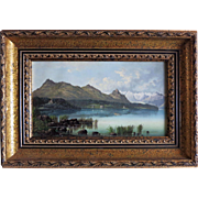 Early 19th Century Swiss painting on metal.