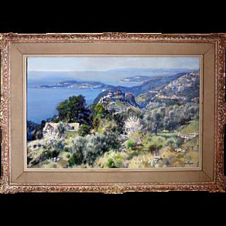 "Gabriel Deschamps  (born 1919) French Oil on Canvas ""PROVENCE"""