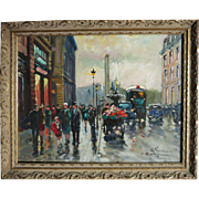 François Gerome  (born 1895) Paris France street scene Circa 1940s