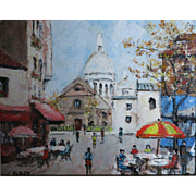 Louis Peyrat (1905-1999) COlorful Paris France street scene