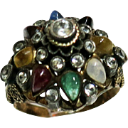 Vintage 14 Kt THAI Princess Harum Ring Set With Semi Precious Stones # 2 of 2
