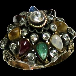 Vintage 14 Kt THAI Princess Harum Ring Set With Semi Precious Stones # 2 of 2