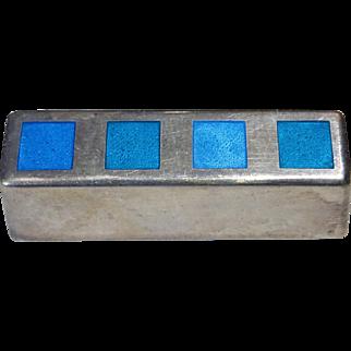 Rare Georg Jensen Danish pin with Blue Enamel