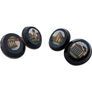 Antique Italian Mosaic shirt Cufflinks