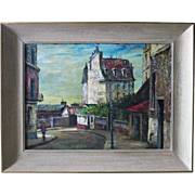 Harold C. Stephenson aka Abruzzi (1908-1974) Oil Painting Europian Street