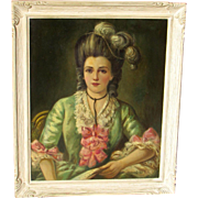 Wallace D. MacBeth, Listed Scottish artist, French Courtesan Woman in a Feathered Hat