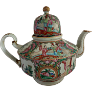 Antique Chinese Famille Rose Tea Pot