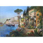 Gottfried Arnegger (Austrian, b. 1905) On the Amalfi Coast