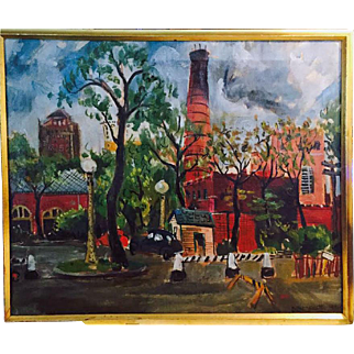Donald Edward Yacoe  (1923 - 2009) orig 1948 Oil on Canvas Chicago Art Int.
