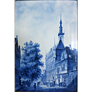 "Large Early Delft Plaque 23"" x 17 1/2"""