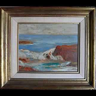 Dana Bartlett (1882 - 1957) Org. Oil Pasadena California Listed Artist