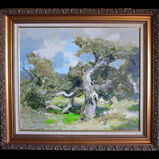 "Douglass Parshall (1899 - 1990) Large Org. Oil ""Gnarled Oak"""