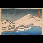 "Vintage Ando Hirishigi titled ""Mt. Fuji with Snow"""