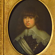 19th Century Oil Portrait Young Prince Waldemar Christian of Denmark after Justus Sustermans