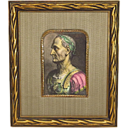 Julius Caesar Hand Colored Print Ornate Frame