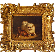 "Henriette Ronner-Knip Oil on Panel ""Playful Pets"""