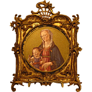 Antique Italian Gold Gilt Carved Miniature Frame