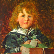 Young Boy Oil Portrait by Alexander Rossi