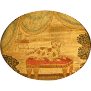 Georgian Miniature Spaniel Silk Embroidery