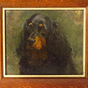 English Oil Painting Portrait Spaniel Dog