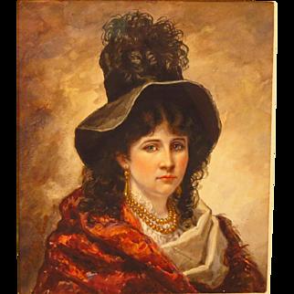 Cornelia Adele Strong Fassett Watercolor Portrait Beautiful Woman