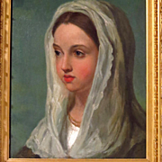 19th Century Young Woman Portrait After Vincenzo Camuccini
