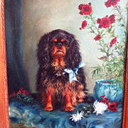 King Charles Spaniel Portrait by Adrienne Lester