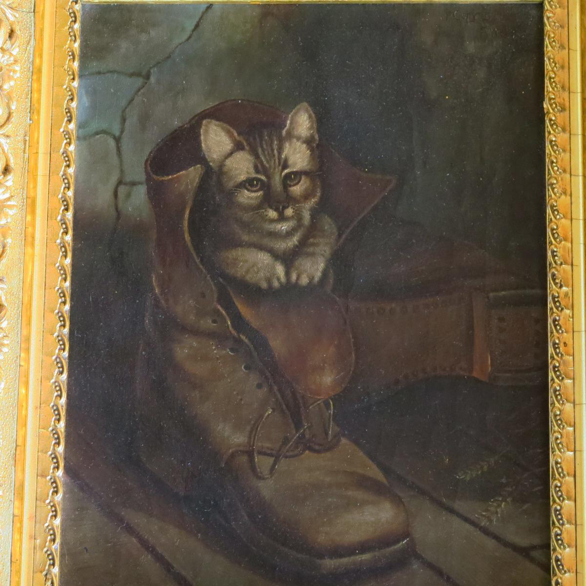 Foll Art Oil Painting after Frank Paton's Puss in Boots