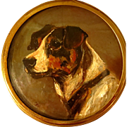 Miniature Oil Portrait Terrier
