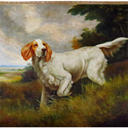 Hunting Dog Portrait Signed Jim Huff