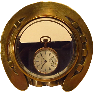 Brass Horseshoe Watch Holder