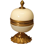Antique French Bulle de Savon Opaline Hinged Casket Box with Gilt Ormolu