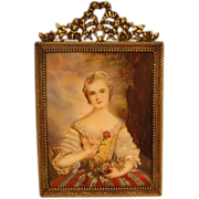 19th century Portrait Miniature Madame Pompadour