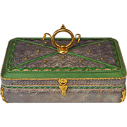 Antique French Candy Box Dragee Box