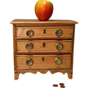 English Miniature Pine Chest of Drawers