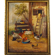19th Century French School Farmyard Scene